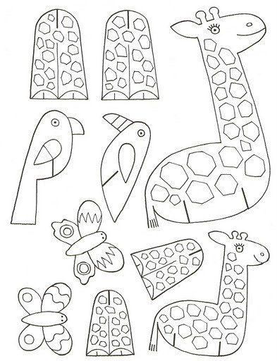 Schauen Sie mal, wie einfach kann man Tiere aus Papier mit