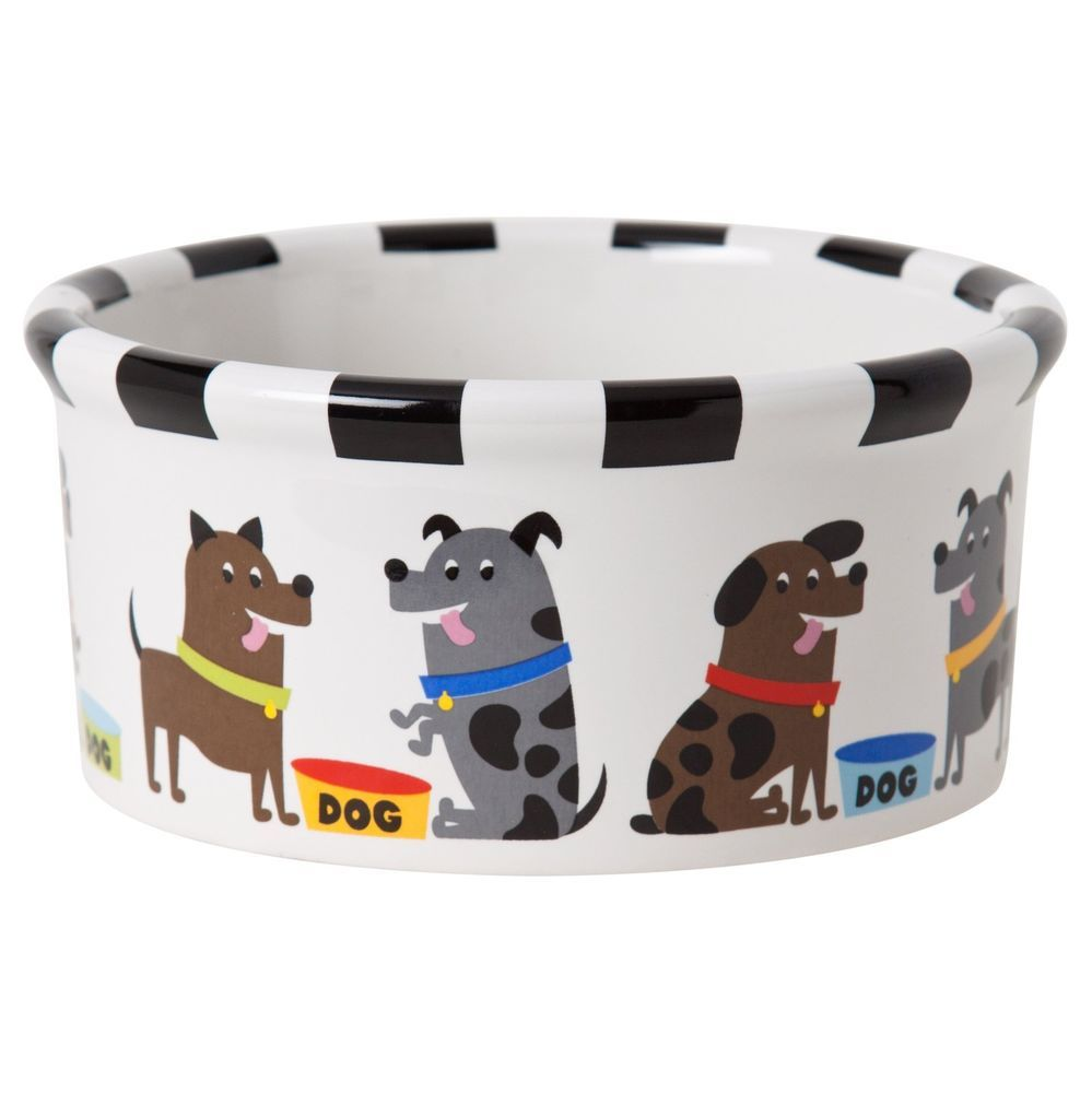 Signature housewares pooch dog bowl small small pet supplies pet