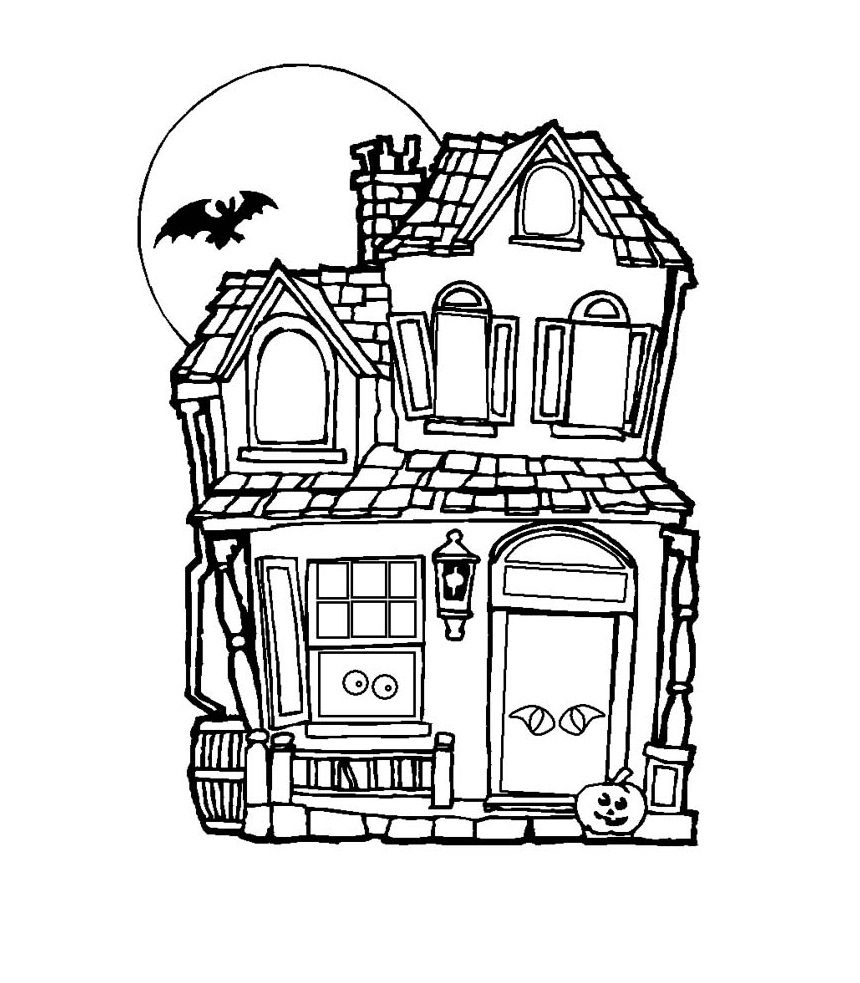 Haunted houses coloring pages