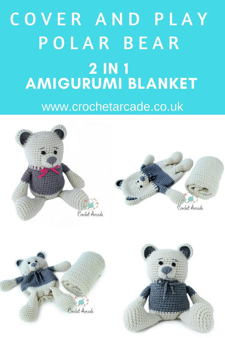 Cover and Play Polar Teddy Bear AmiBlanket | Pinterest | Crochet ...
