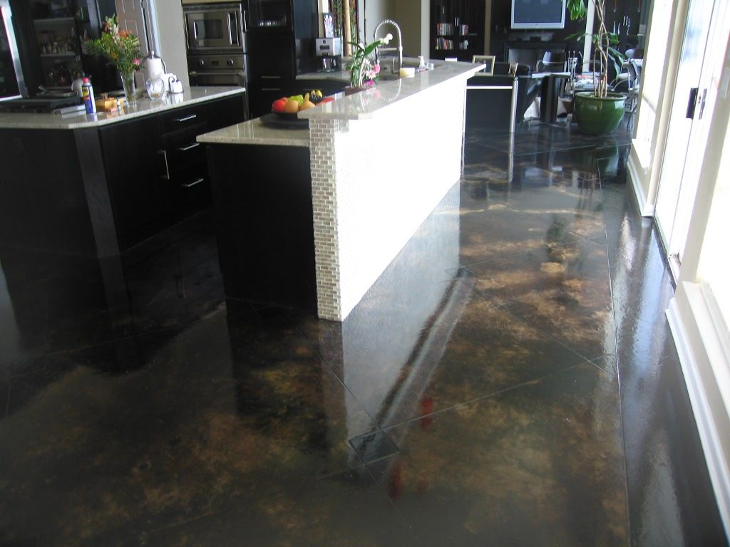 Black grey stained cement google search flooring for Black stains on concrete