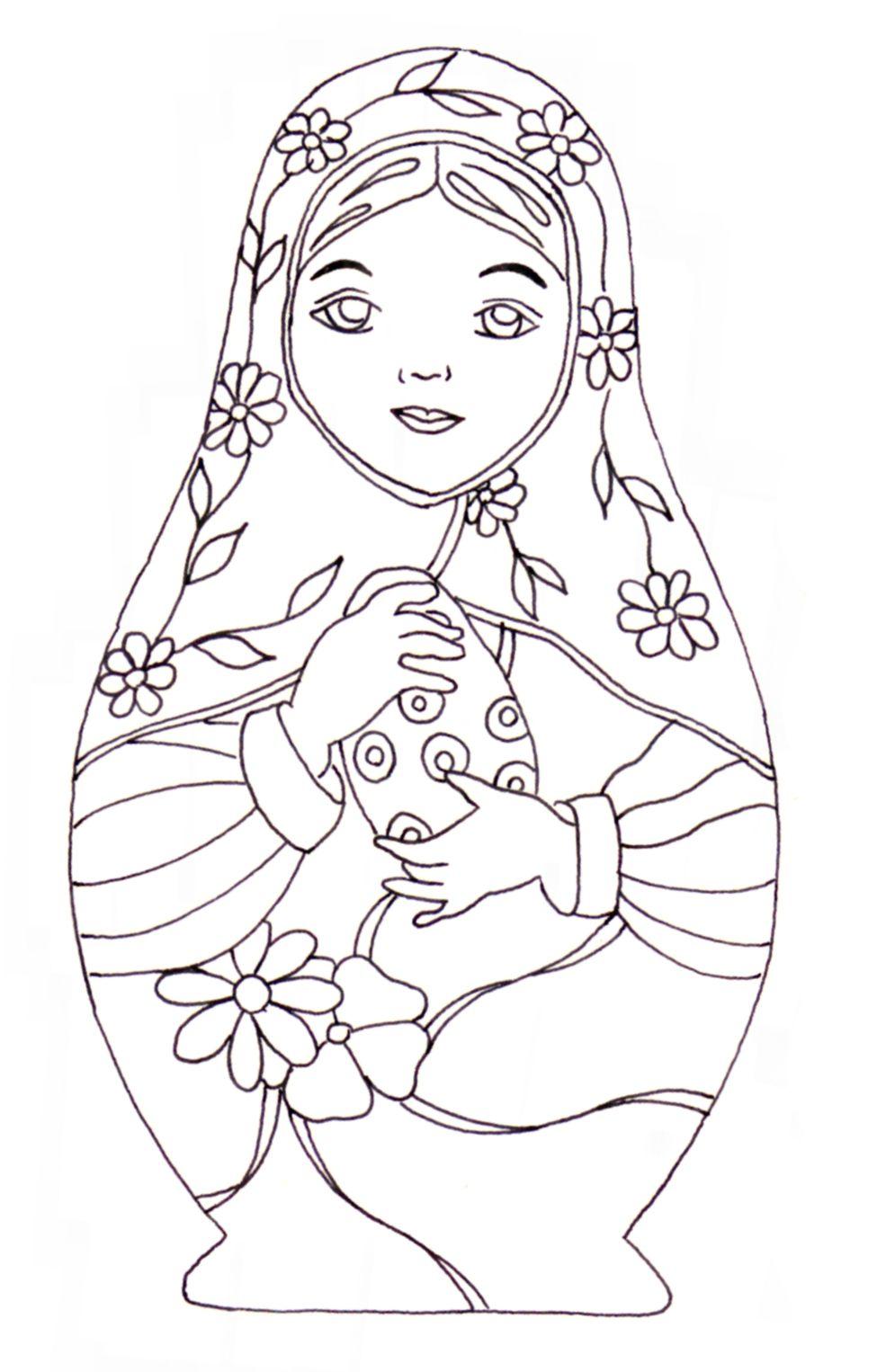 matroyshka dolls coloring pages - photo#17