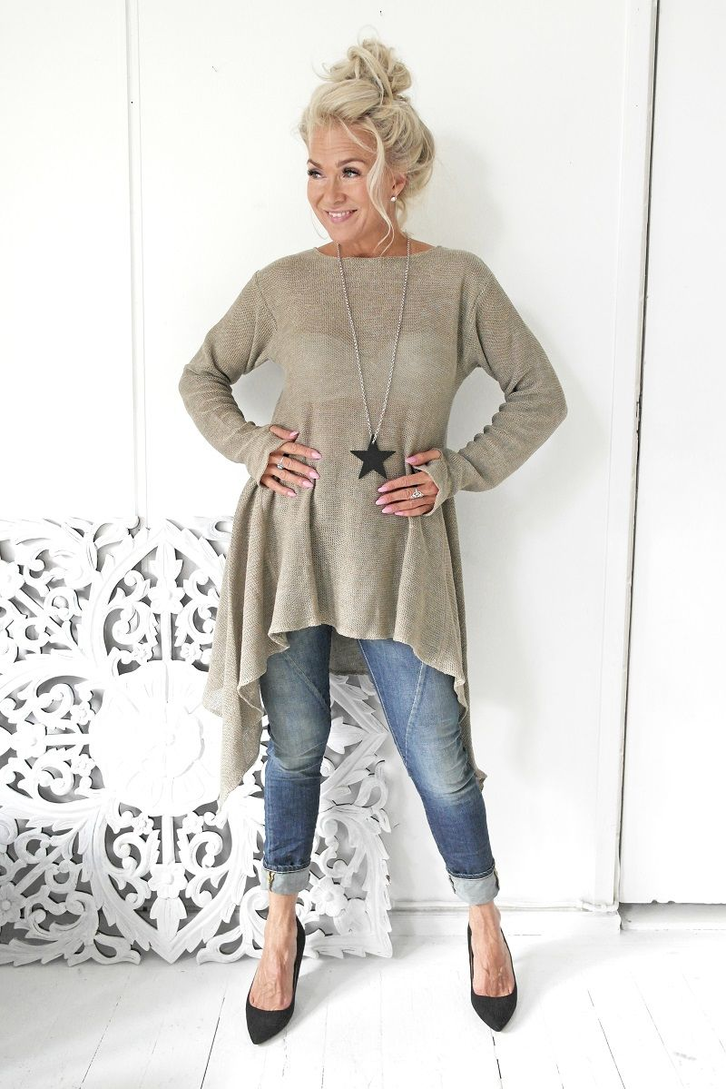 47474e766d AMALFI QUEEN Linen Tunic, NATURAL - BYPIAS Linen Knits - BYPIAS Mature  Fashion, Daily