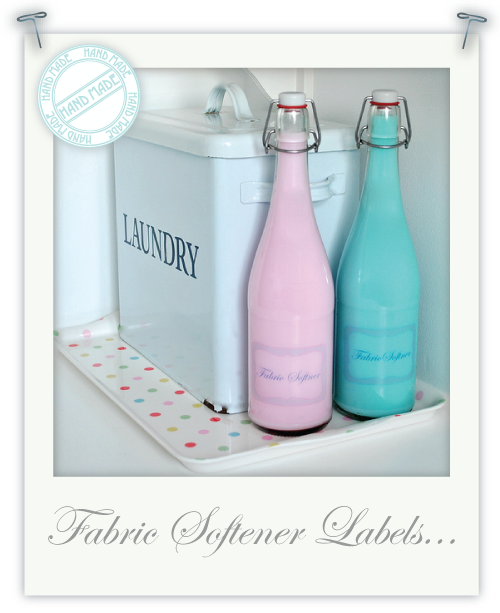 Home-made fabric softener labels