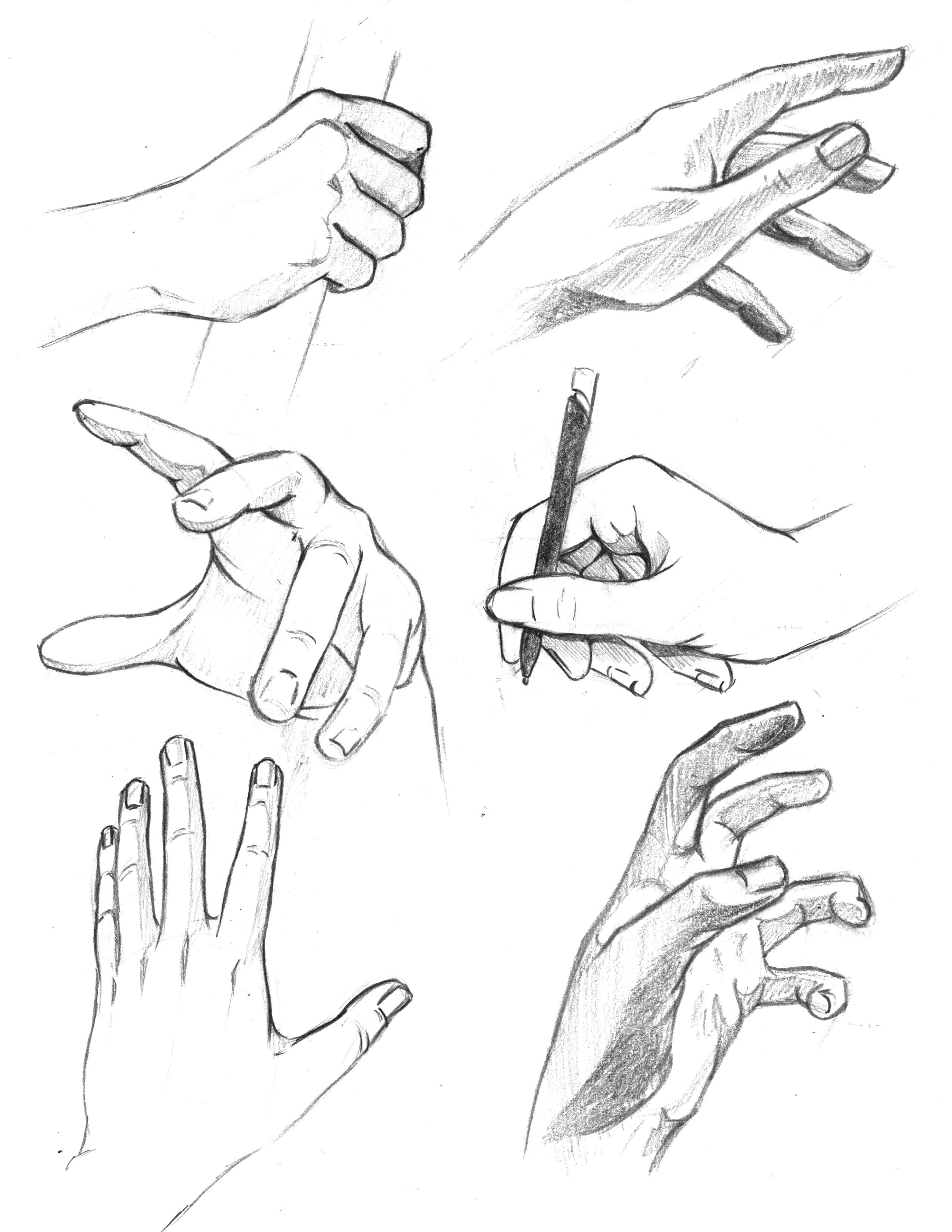 Drawing Hands Different Poses Arts Pinterest Drawing