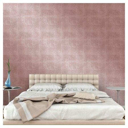 Metallic Leaf Peel Stick Wallpaper Pink Project 62 Peel And Stick Wallpaper Metallic Wallpaper Silver Painted Furniture