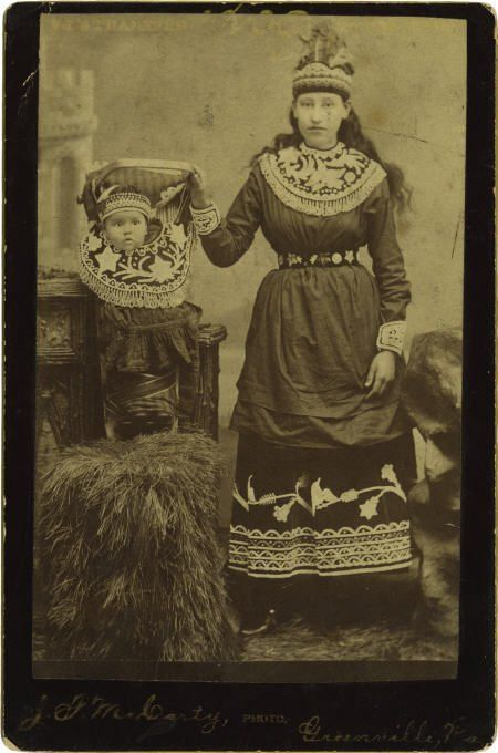 72189: Photo of Seneca Indian Lady and Baby in Papoose : Lot 72189