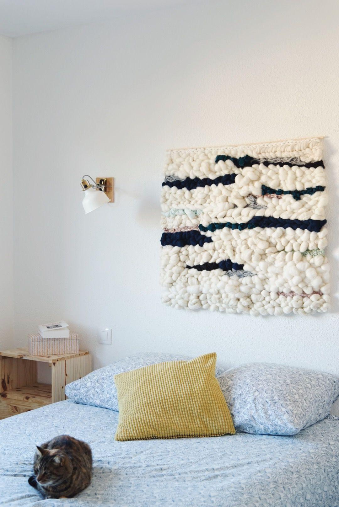 Une tête de lit douillette en tissage