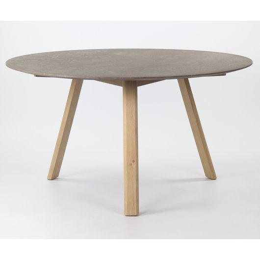 Rare Danish Modern Teak Round Expandable Top Dining Table Der