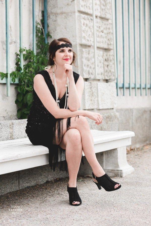 Little Black Gatsby Dress | Gatsby dress, Blogger outfits