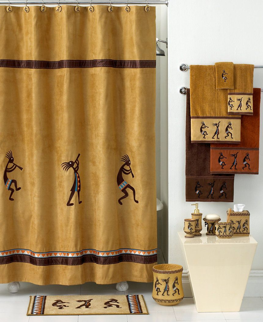 Avanti Kokopelli Shower Curtain & Reviews - Shower Curtains - Bed