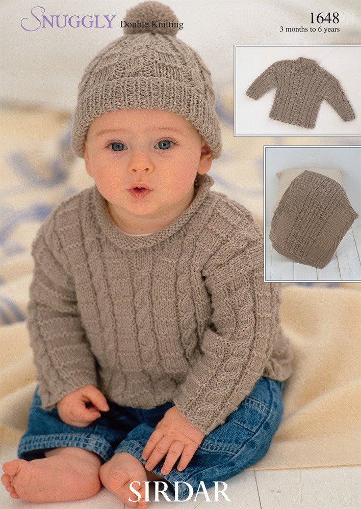 Sweaters, Blanket and Hat in Sirdar Snuggly DK - 1648 - Downloadable PDF #blanketsweater