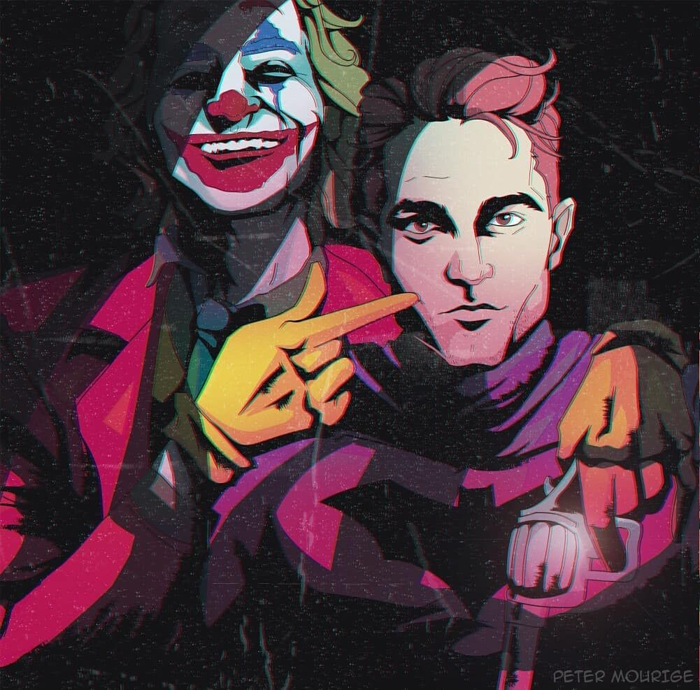 02Jun19 Rob as Batman and Joaquin Phoenix as The Joker