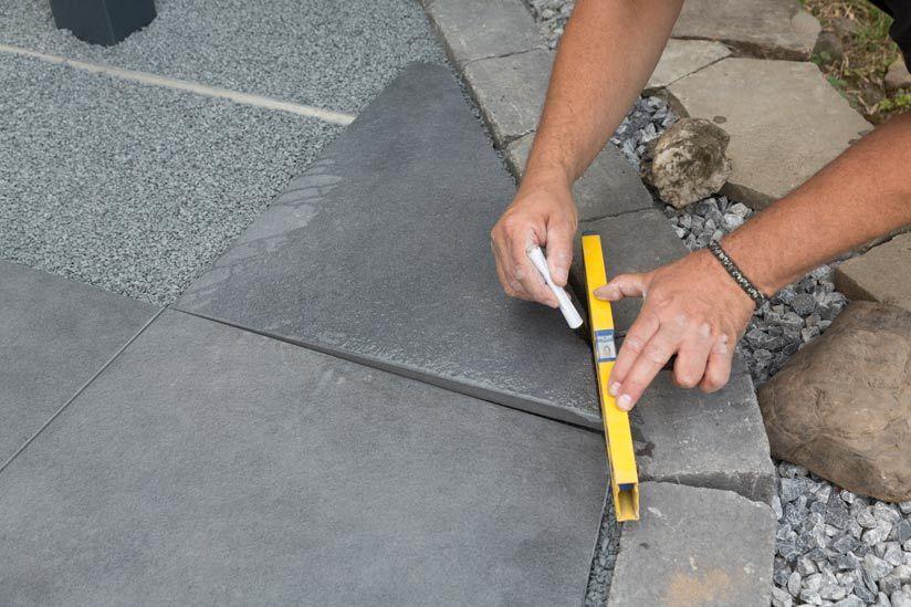 terrassenplattekanteabschneiden (mit Bildern