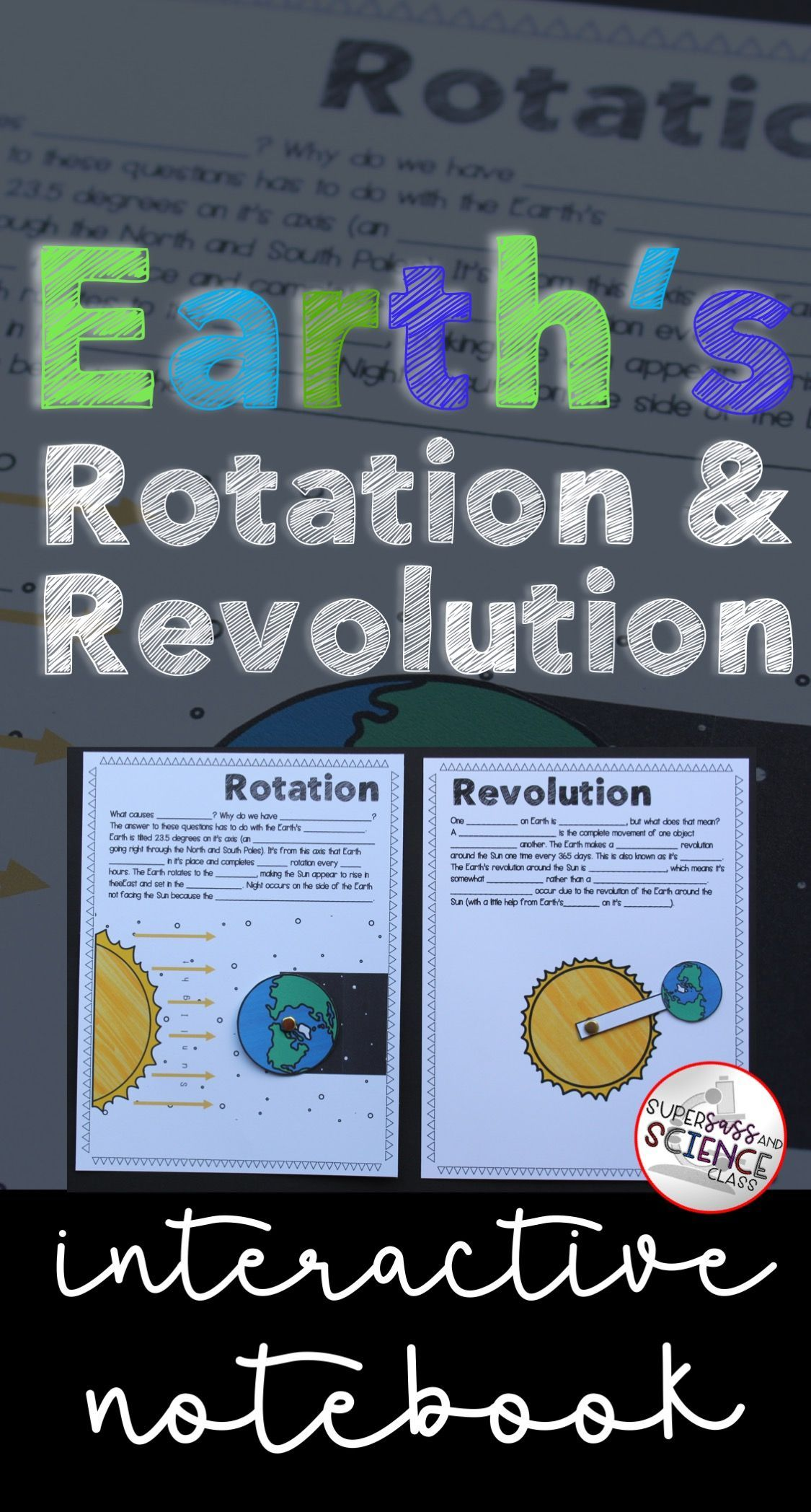 Earth S Rotation And Revolution Interactive Notebook