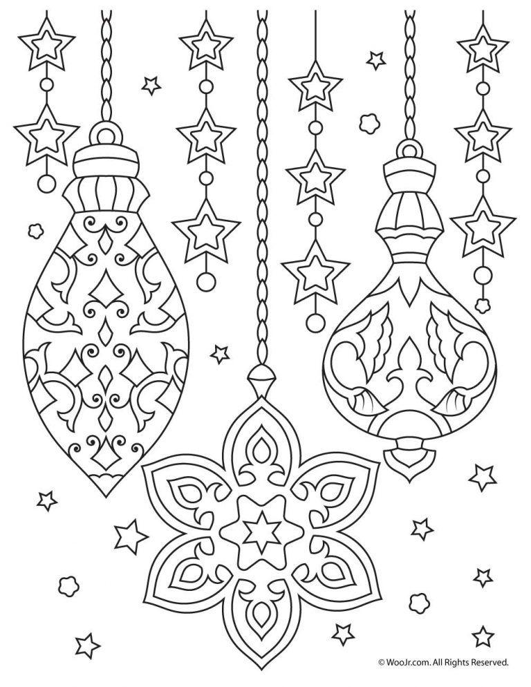 Christmas Ornaments Adult Coloring Printable Christmas