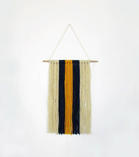 Wall Tapestry | Yarn Wall Hanging | Bohemian Tapestry | Woven Wall ...