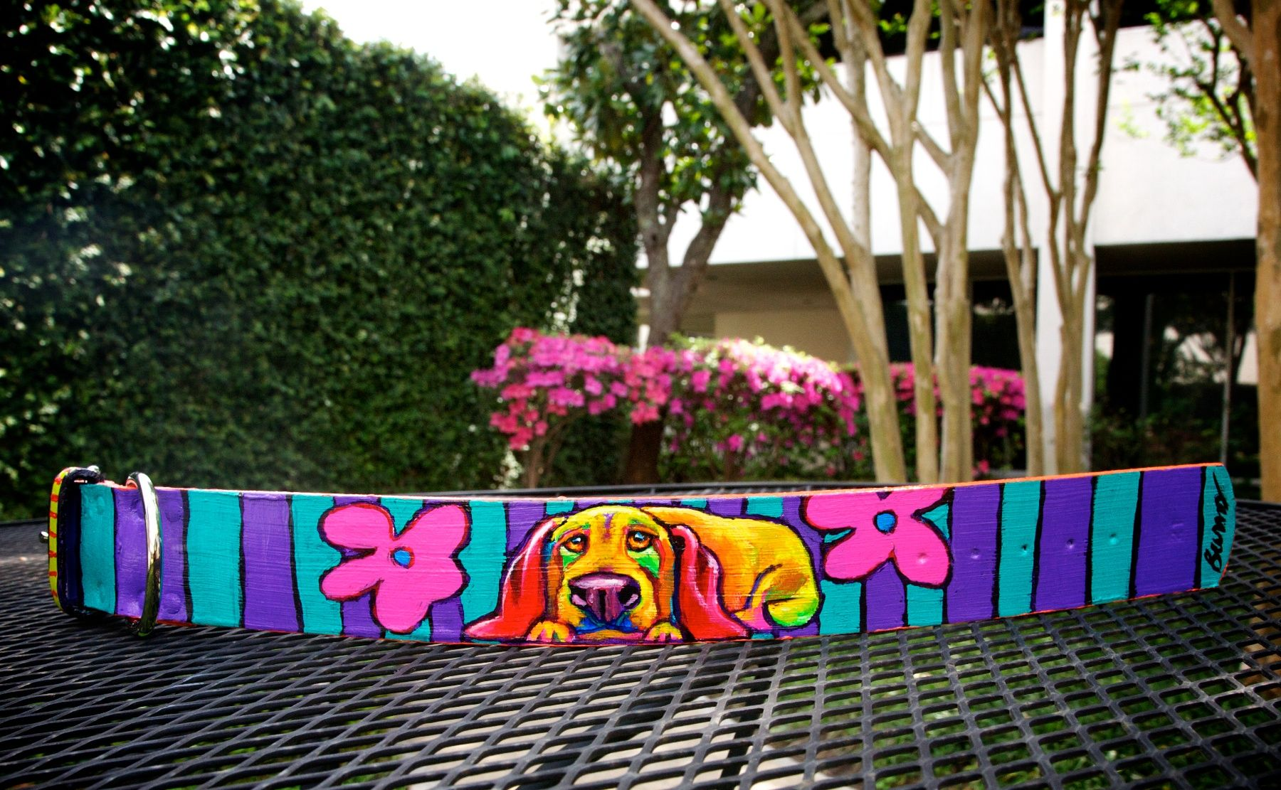 One-of-a-kind piece by artist Ron Burns.