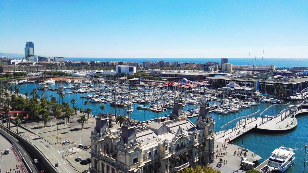 Port of Barcelona & Maremagnum from Mirador de Colom