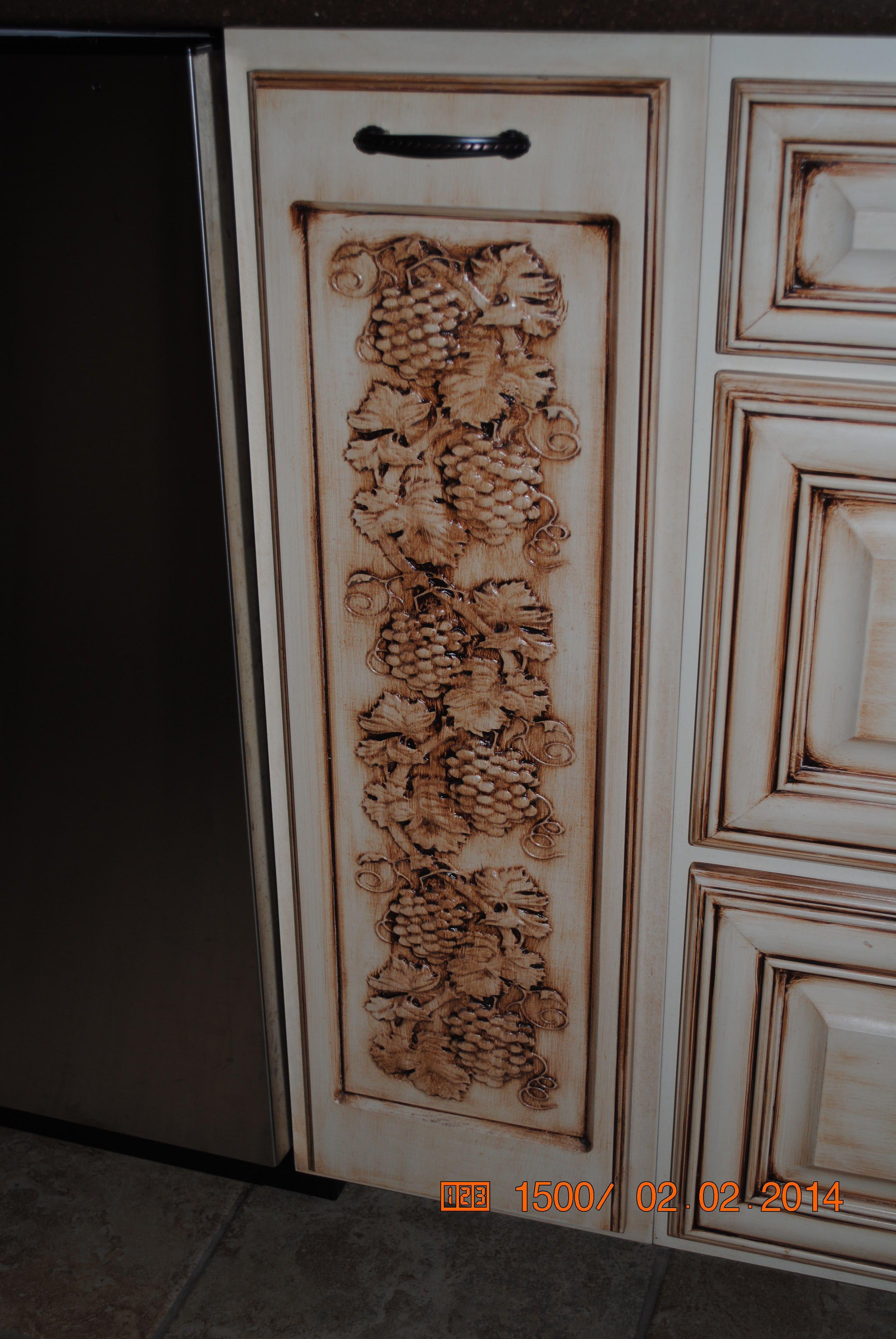 Grape Vine Carving On Cabinet Door Cnc Cabinet Doors