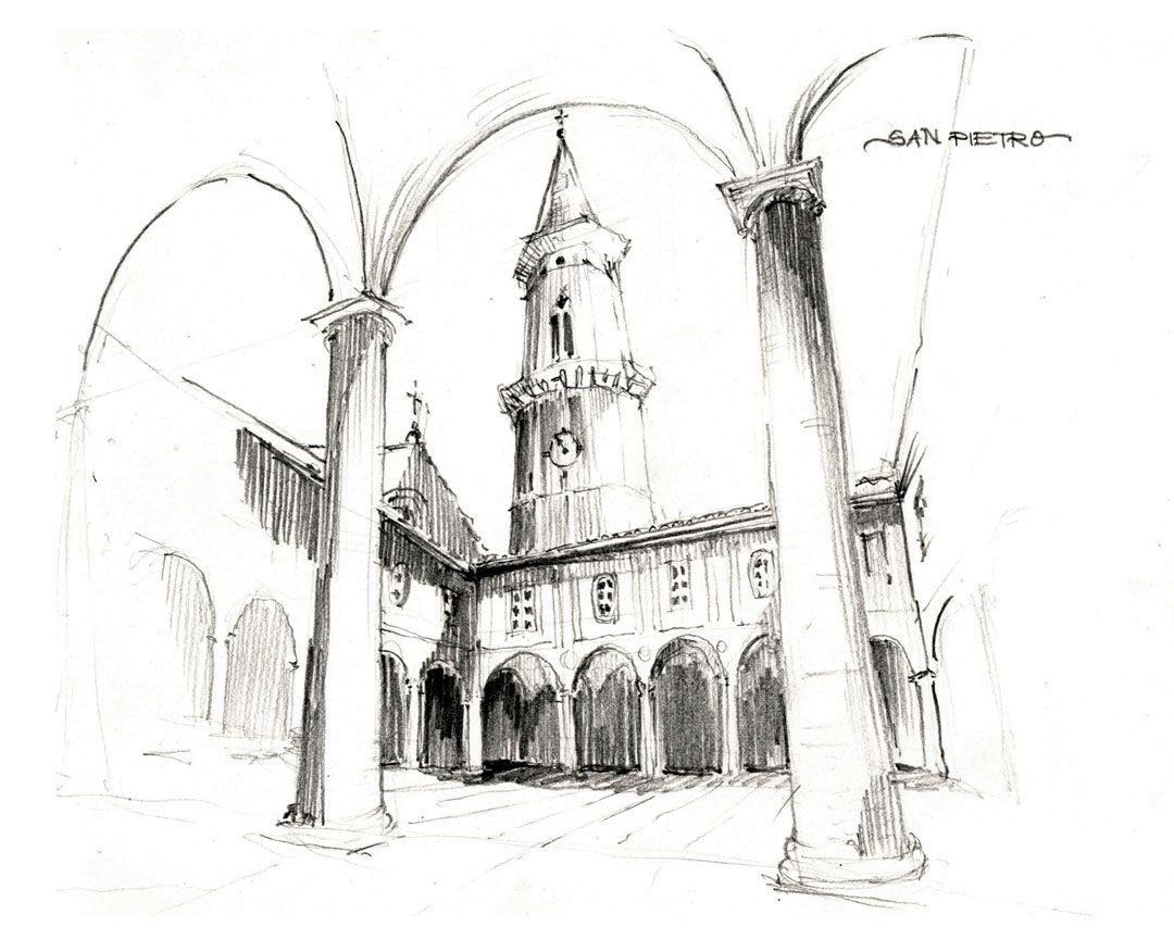 италия в картинках карандашом замечательным художником был