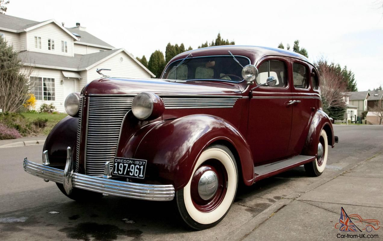 1937 Desoto Sedan Burgandy 4 Door Original Chevy Dodge Ford 1936 1938 1939 Desoto Sedan Desoto Cars