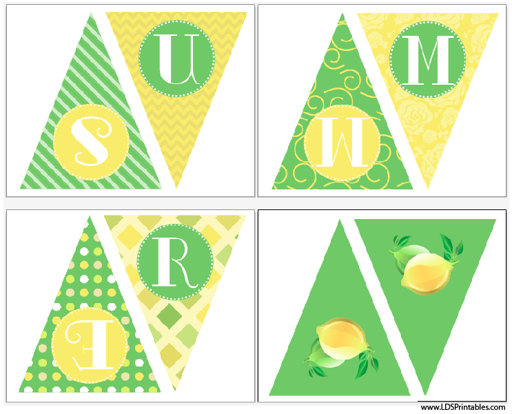 summer printable banner free citrus colors are great for this summer season more on blog. Black Bedroom Furniture Sets. Home Design Ideas