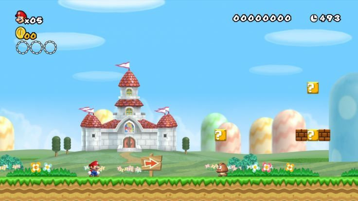 Mushroom Kingdom New Super Mario Bros Wii Wallpaper Background