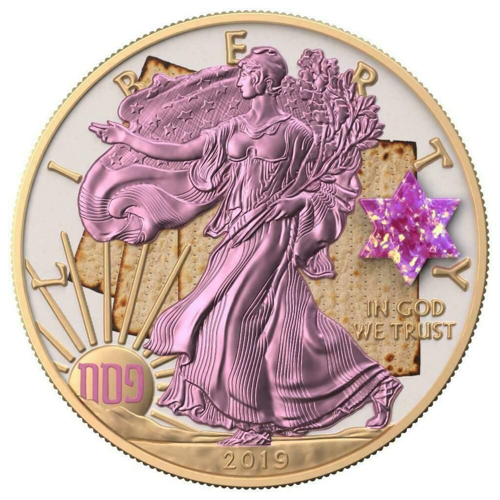Usa 2019 1 Silver Eagle Jewish Holidays Pesach 1 Oz Silver Coin 500 Pcs Only In 2020 Silver Coins Silver Eagles Silver Bullion Coins