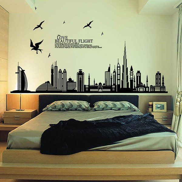 wall decal for living room. 45  Beautiful Wall Decals Ideas Art and Design Flight quotes Removable wall