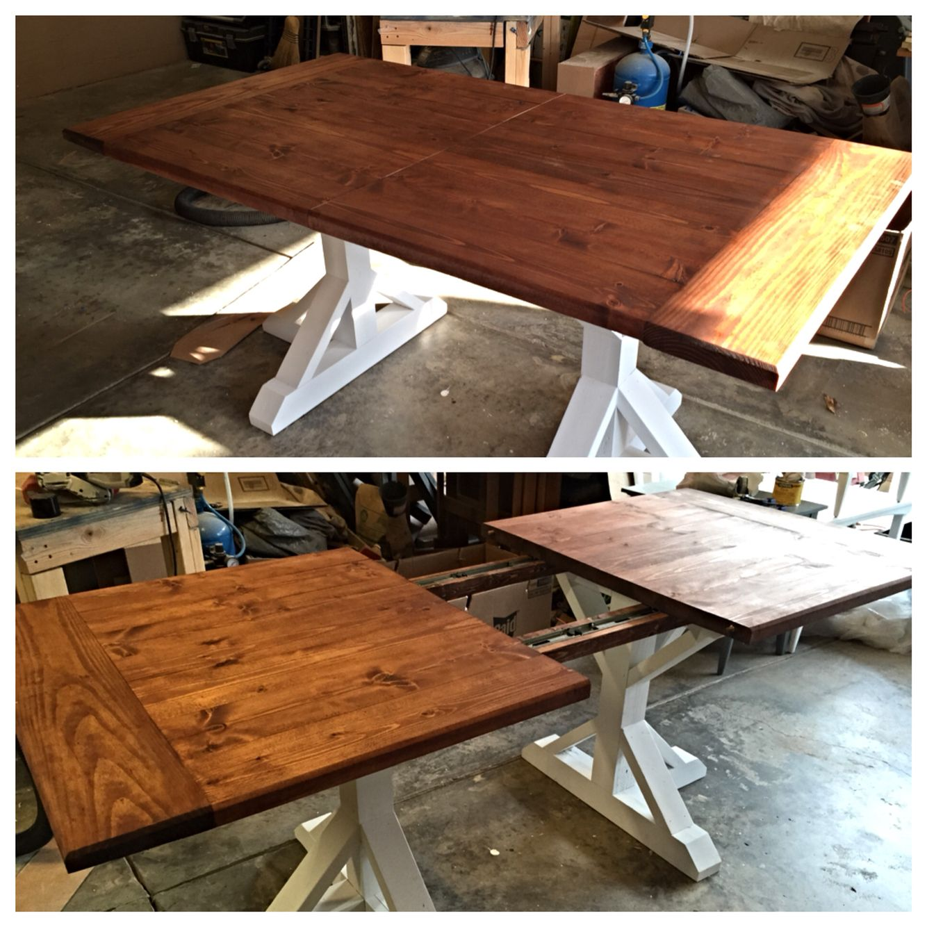 Rustic 7ft Farmhouse Table @BTWoodCraft #BTWoodCraft