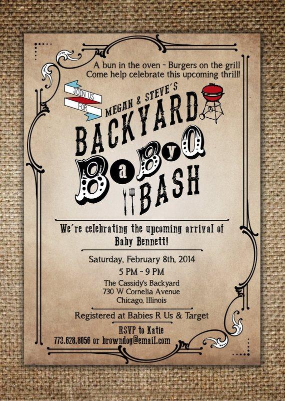 baby shower invitation baby bbq backyard baby q bash pinterest