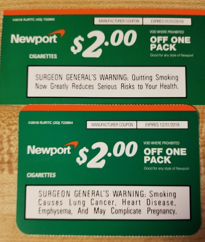 image relating to Newports Cigarettes Coupons Printable identified as Pin upon Puts in direction of check out