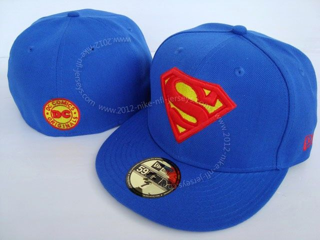 Superman-Blue-Fitted-Hat