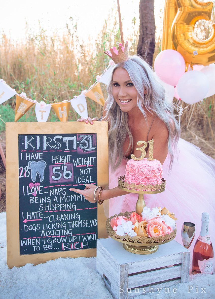 Kirstis Golden Birthday Adult Cake Smash Photo Session Sunshyne Pix