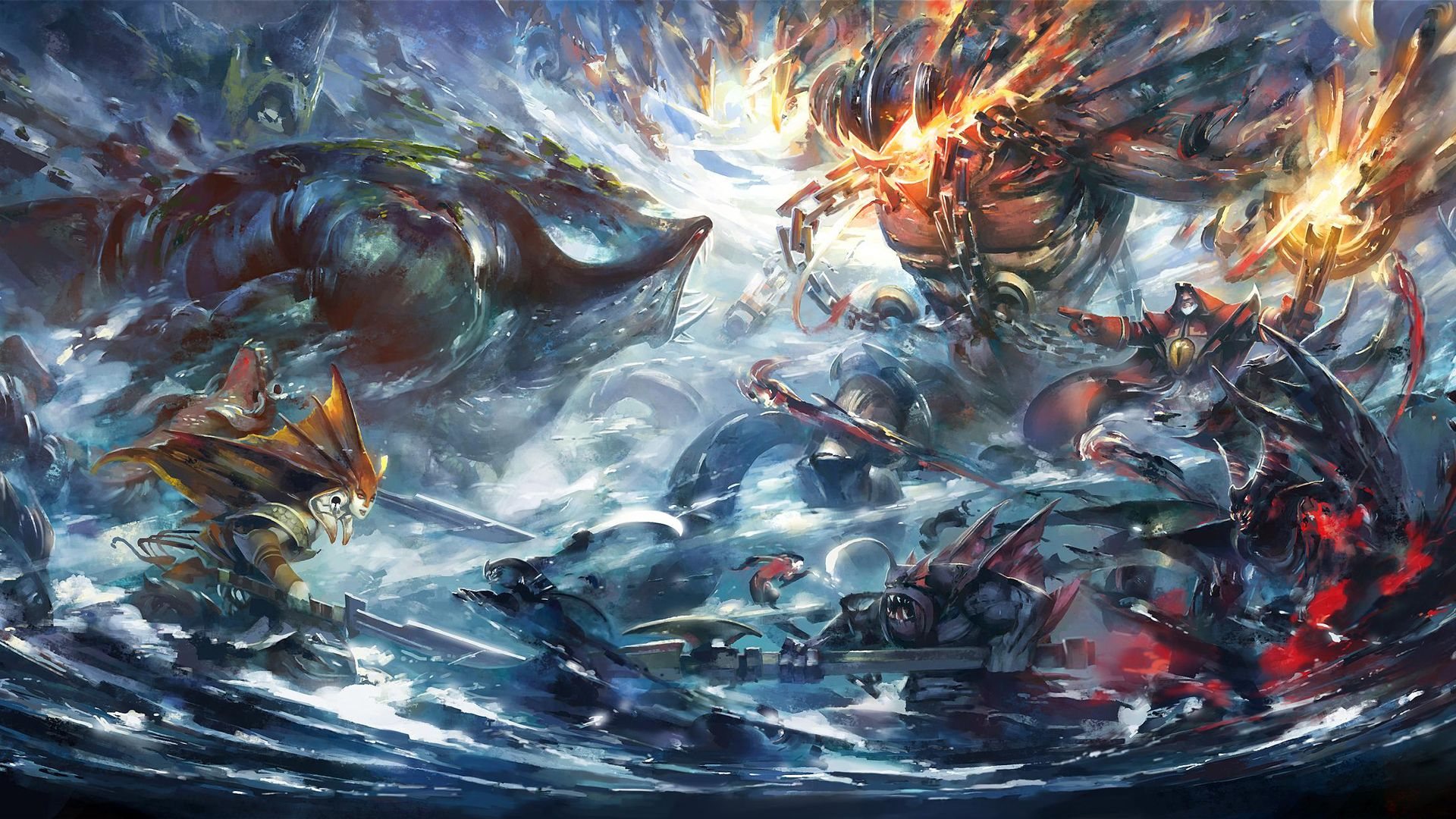 Dota 2 Heroes Clash Art Battle High Definition Wallpaper Dota 2 Wallpaper Dota 2 Art Wallpaper