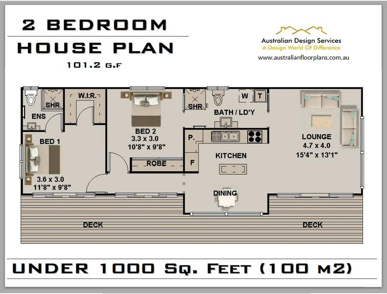101 2 Clm Floor Area 785 7 Sq Ft 2 Bedroom House Plan Etsy House Plans For Sale House Plans House Plans Australia