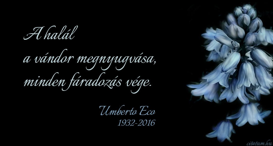 idézetek életről halálról Umberto Eco idézet | You are the father, Love your enemies