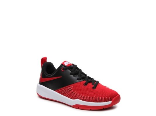 Men's Nike Team Hustle D7 Low Boys Youth Basketball Shoe - Red