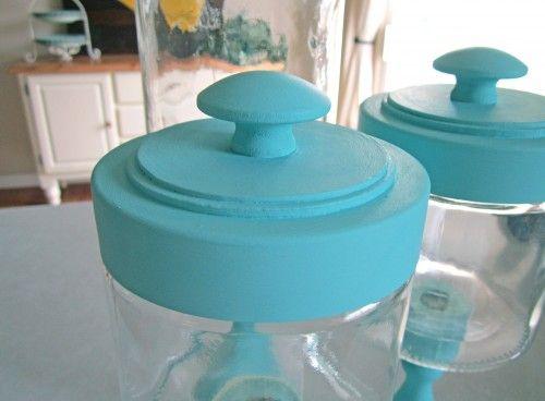 DIY candlestick jars