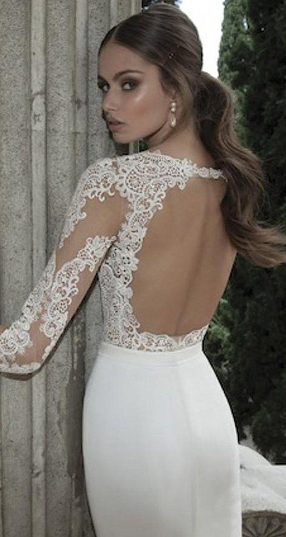 Ok dress long sleeve lace mermaid wedding prom dresses backless