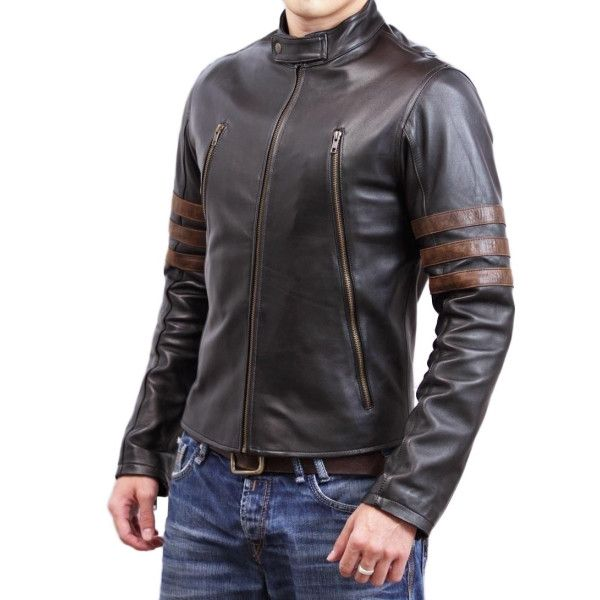 WOLVERINE BIKER GENUINE LEATHER JACKET | L-Jacket | Pinterest ...