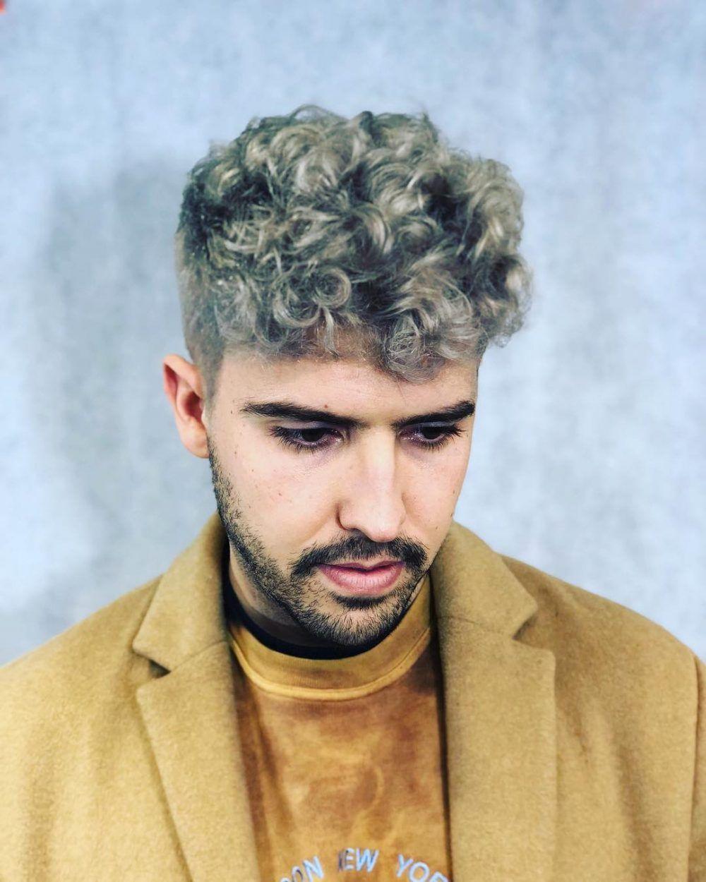 29 Coolest Men S Hair Color Ideas In 2020 Mens Hair Colour Men Hair Color Curly Hair Men