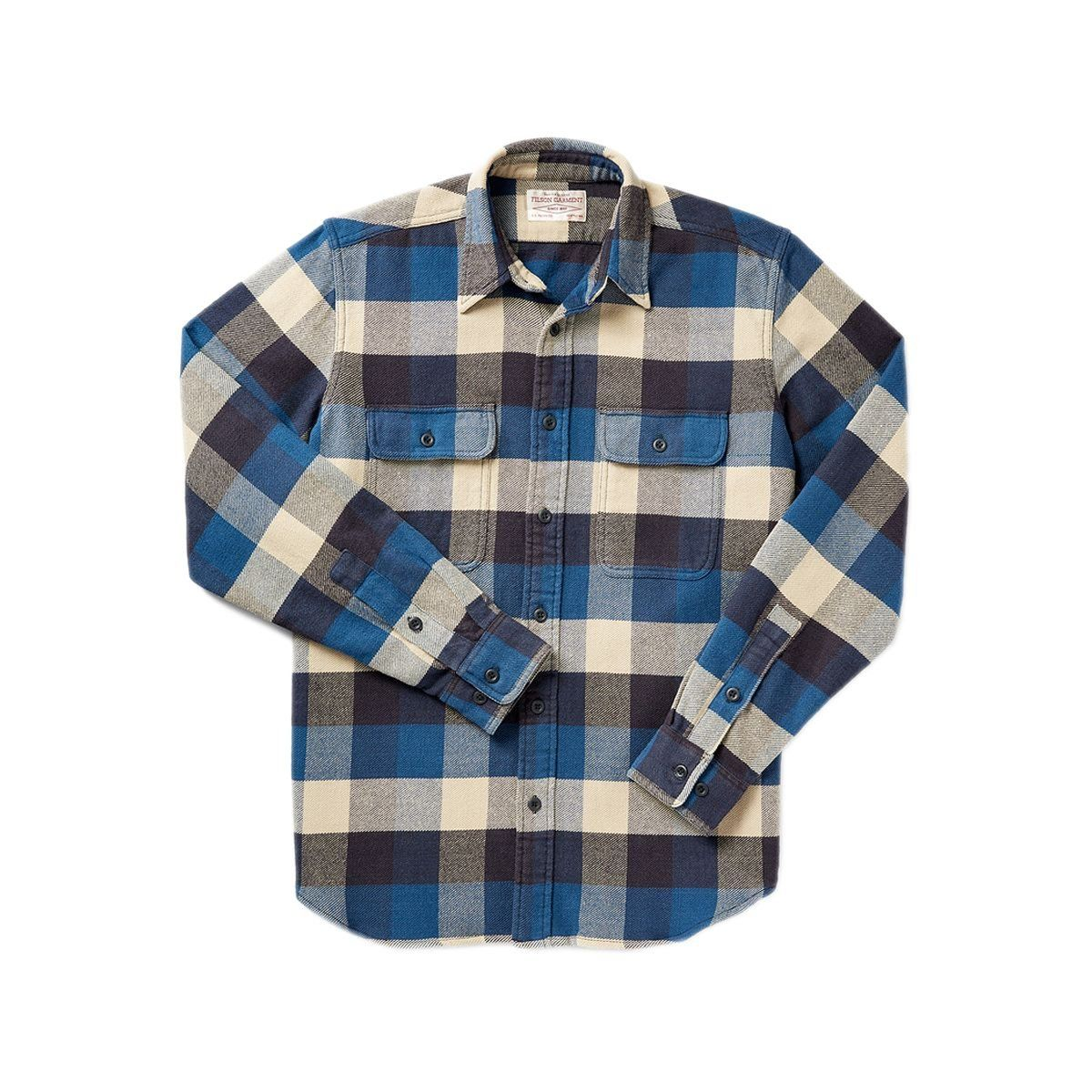 Flannel outfit ideas men  Filson Menus Vintage Flannel Work Shirt Xlarge Blue Buffalo at