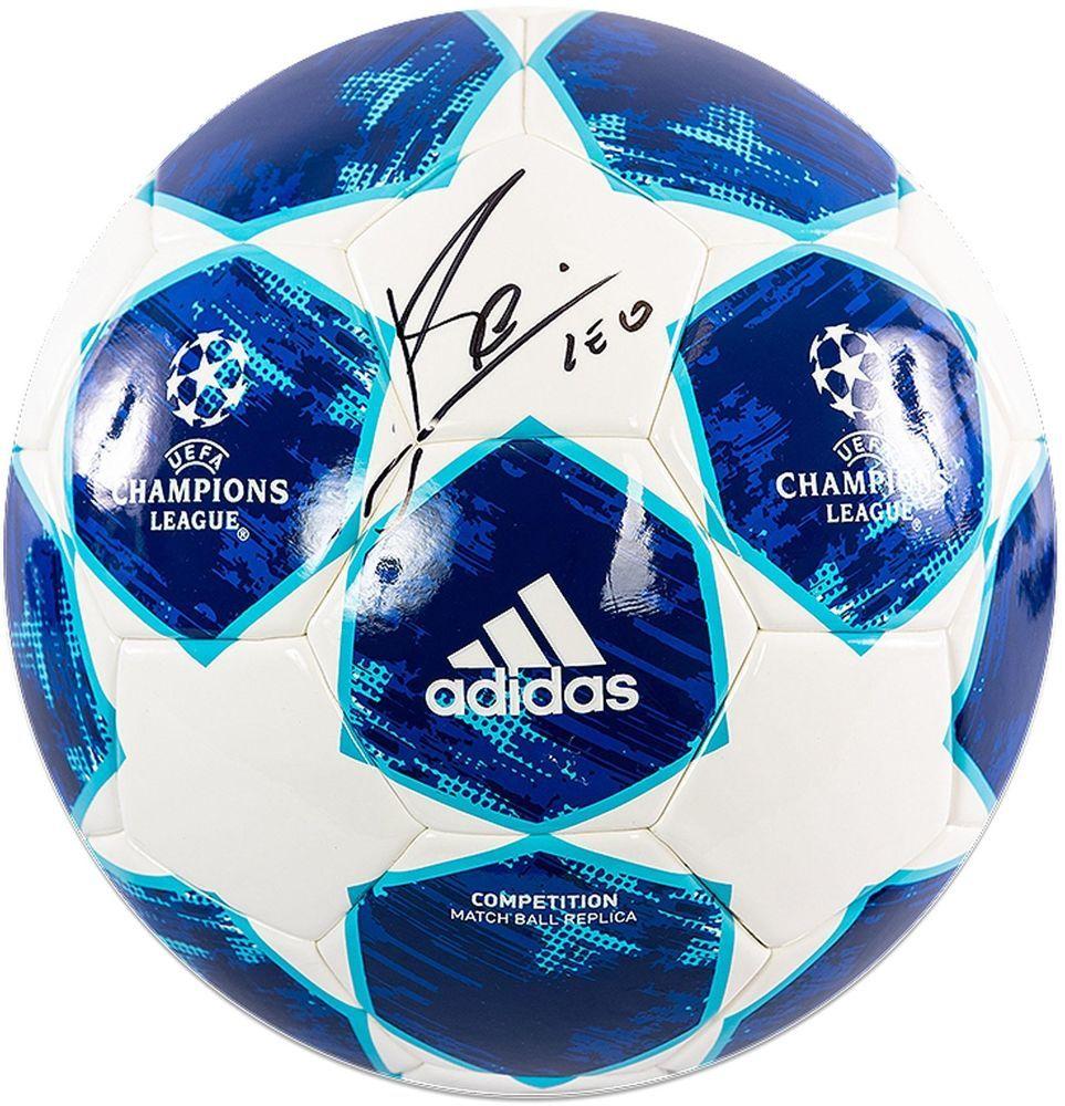 54cf27d97bd Lionel Messi Barcelona Autographed 2018-19 Champions League Soccer Ball  ICONS