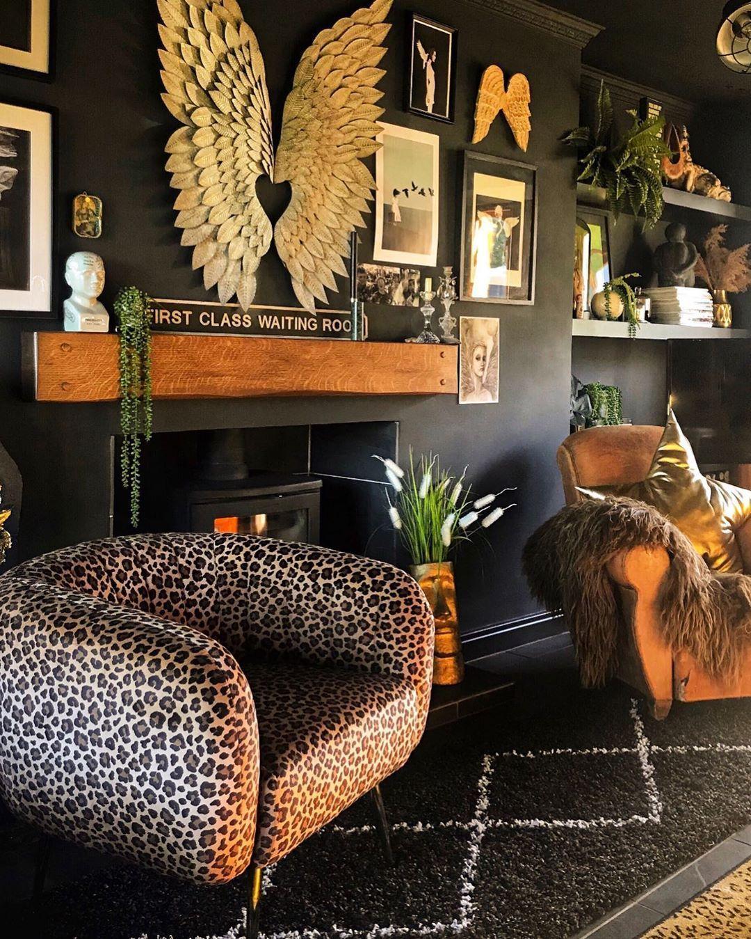 leopard print effie chair  picflowerheartflower