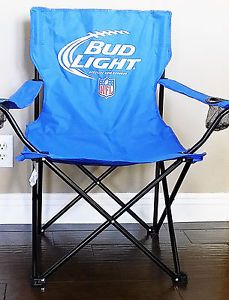Bud Light NFL Tailgate Chair Drink Holders Bag Cowboys Colts Giants  Patriots NEW