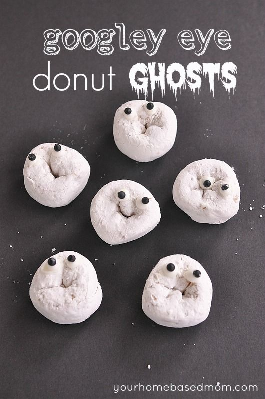 Googly Eye Donut Ghosts! These faces crack me up! -) & Googly Eye DonutsGhosts Mummies u0026 Monsters! | Googly eyes ...