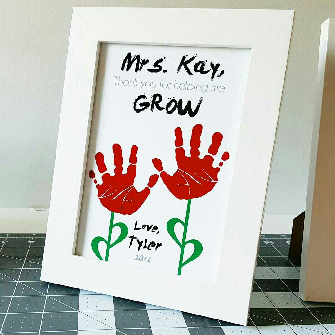 Teacher Appreciation Gift Using Child S Handprints Thank You For