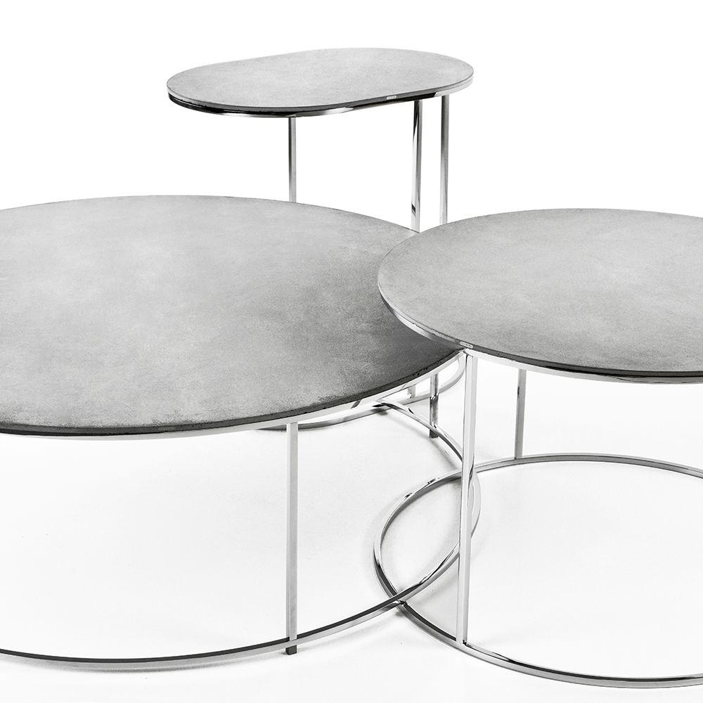 Gravelli Coffee Tables Set Airsteel In Grey With Smooth Surface Concrete Coffee Table Steel Table Base Steel Table [ 1000 x 1000 Pixel ]